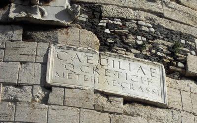 The Mausoleum of Cecilia Metella on the Appia Antica